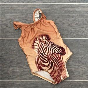 Baby Gap 18-24m girls zebra one piece swimsuit